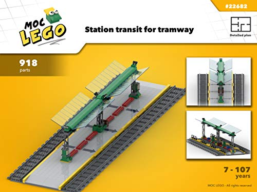 Station Tramway (Instruction Only): MOC LEGO por Bryan Paquette