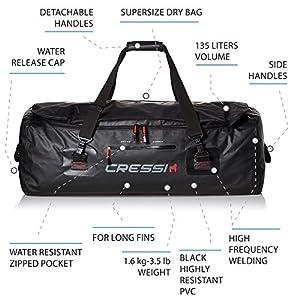 Waterproof Bag for Scuba Freediving Equipment – 135 Liters Capacity