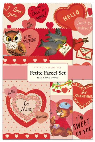 Cavallini Papers Parcel Set Vintage Valentines Gift Bags, Petite, Set of 12]()