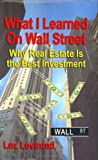 What I Learned on Wall Street, Lex Levinrad, 1591139465