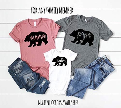 Mama Bear Papa Bear Baby Bear Matching Shirt Set Sister Bear Brother Bear Family Bear Shirts Mommy and Me Shirts Daddy and Me Shirts ()