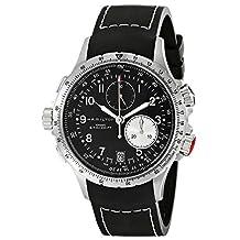 Hamilton Men's H77612333 Khaki ETO Black Chronograph Dial Watch