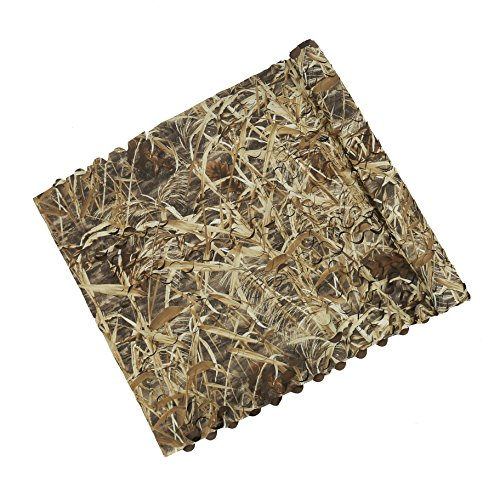 (Auscamotek 300d Duck Blind Material Camo Netting for Goose Hunting Camouflage Net Boat Blinds Mats Dry Grass 5ft×10ft )
