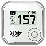 Golf Buddy Voice Plus GPS Range Finder White Audio Distance