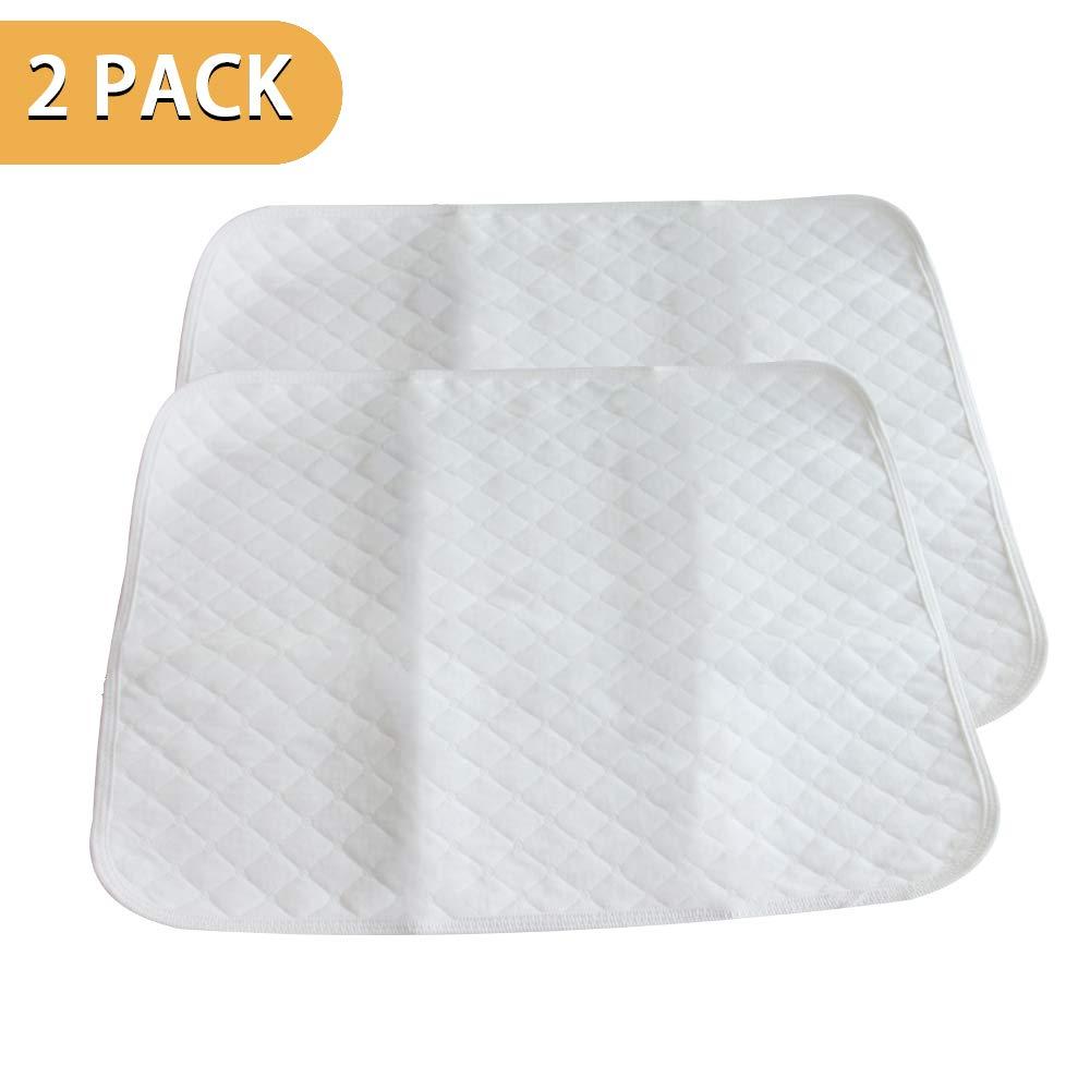 PX Home Baby Matratzenschoner, Wasserdichte Matratzenauflage Auflage Inkontinenzauflage Inkontinenz-Bettschutzeinlage Waschbar Matratzenschutz,weiß, 2 Stücke(45 x 35 cm) weiß 2 Stücke(45 x 35 cm)