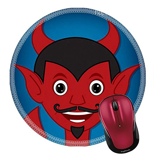 Liili Round Mouse Pad Natural Rubber Mousepad IMAGE ID: 23161158 Lucifer cartoon character in vector - Face Goatee For Round