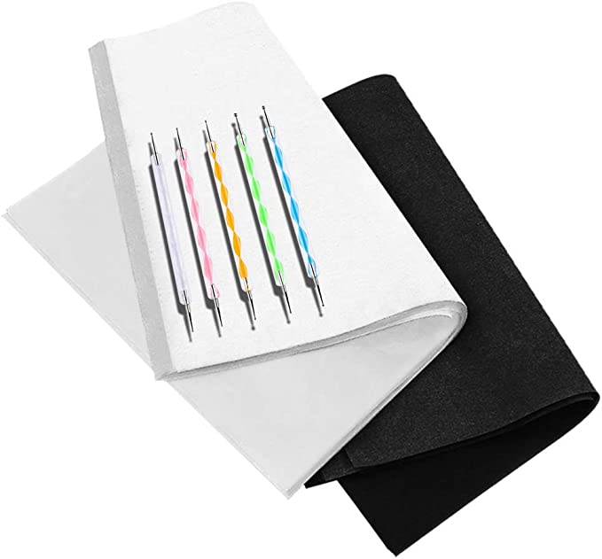 dgyl88 100 Sheets Carbon Transfer Paper Tracing Paper for Wood Paper Black 25pcs Canvas and Other Art Surfaces Tracing Copy,Black Graphite A4 Tracing Copy Paper