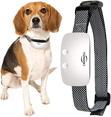 Yuanaki Anti Bark Dog Collar – Backlight LED, IP67 Waterproof, Adjustable, USB Rechargeable – Gentle Shock, Vibration, Beeping – Antibarking Correction and Training Supplies – Smart Automatic Sensor