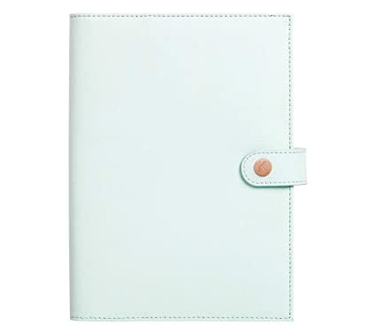 Amazon.com : kikki.K A5 Leather Notebook Holder: Mint ...