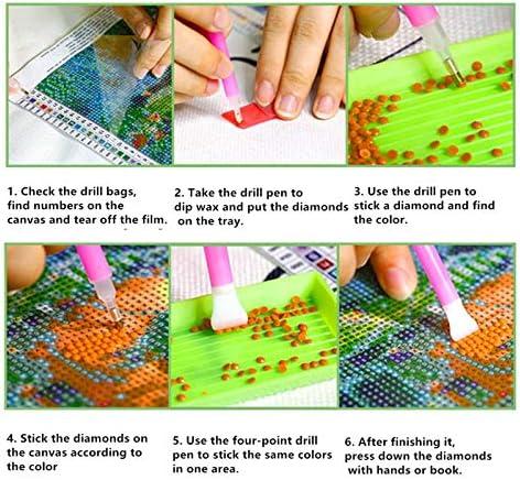 GLT.ETL 5D Diamond Painting Kits for Adults, Diamond Dots Art Full Drill Round Gem Rhinestone Painting Kits for Home Decor Castle 11.8 x 15.7 inch/ 30 x 40 cm.