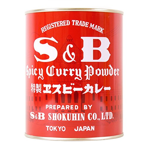 S & B Curry Powder, 14.1-Ounce Tins (Pack of 4) by S & B