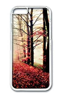 iPhone 6 Plus Case, Protective Slim Hard PC Clear Case Cover for Apple iPhone 6 Plus(5.5 inch)- Leave Fall Down