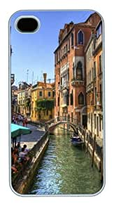 iPhone 4S Cases - Venice Channel Building Custom Design PC Hard Case Cover for iPhone 4 and 4S White