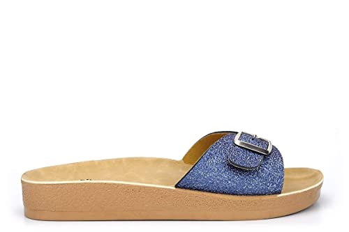 quality design fast delivery cute Shoes by Emma Womens Mule Sandals with Adjustable Buckle Blue ...