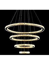 MEEROSEE LED Crystal Chandeliers Modern Ceiling Lights Light Fixtures Pendant Lighting Dining Room Chandelier Contemporary Adjustable