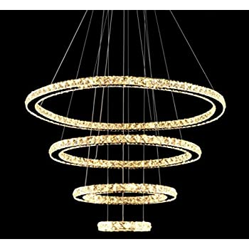 Meerosee led crystal chandeliers modern ceiling lights light meerosee led crystal chandeliers modern ceiling lights light fixtures pendant lighting dining room chandelier contemporary adjustable aloadofball Image collections