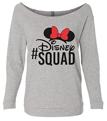 Womens Cute Minnie Mouse #Disney Squad Raw Edge Sweat Shirt - Disney World Gift