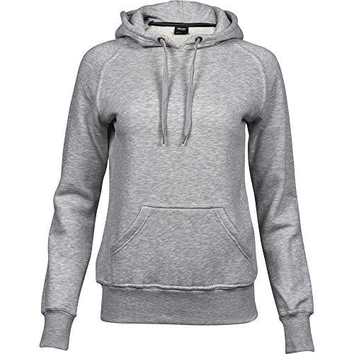 Tee Jays Womens/Ladies Raglan Hooded Sweatshirt (M) (Heather Gray)