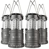 LED Camping Lantern - Active Research Water Resistant LED Lantern Portable 30 LED Flashlight, Battery Powered, (Pack of 4)