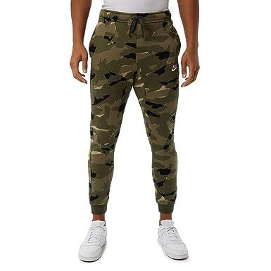 83460e49c35 NIKE Mens Club Camo Jogger Pants Cargo Khaki White AJ2111-325 Size Small