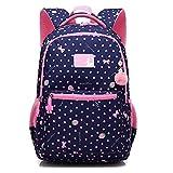 Girls School Backpack Kids Bookbags for Teen Elementary Water Resistant School Bags Travel Daypack