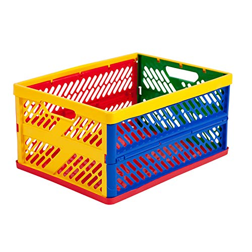Collapsible Crates Ventilated Sides Large Multi-Colored By Early Childhood Resources Llc from Early Childhood Resources