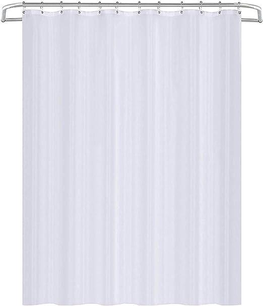 Cortinas De Ba/ño Utopia Home Cortina De Ducha Impermeable y Resistente al Moho Blanco 180x200