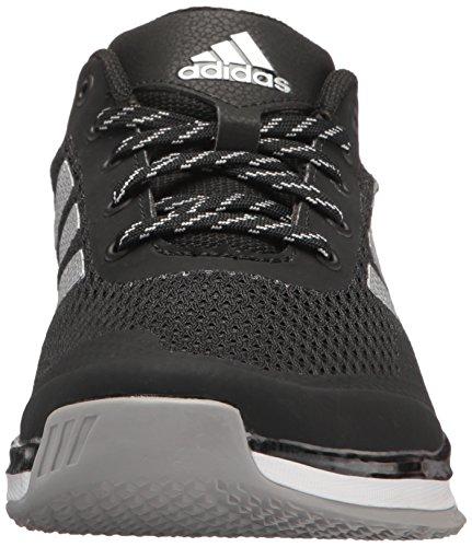 Adidas Mens Freak X Carbon Cross Trainer Nero / Argento Metallizzato / Bianco