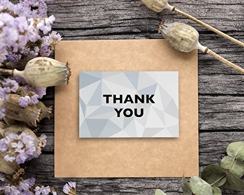 Thank You Cards - 48-Count Thank You Notes, Bulk Thank You Cards Set - Blank on the Inside, 6 Stained Glass Pattern Designs – Includes Thank You Cards and Envelopes, 4 x 6 Inches by Best Paper Greetings (Image #1)