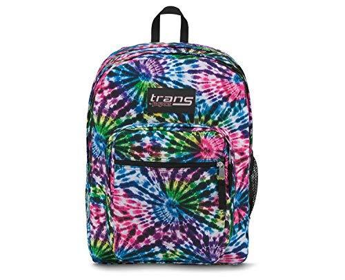 """Trans by JanSport 17"""" SuperMax Backpack - Tie Dye Swirls wit"""