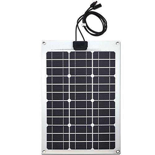 Lensun 50W 12V Semi-Flexible Monocrystalline Solar Panel for 12V Charge Battery on Boats, Caravans, Motorhomes, Yachts, RVs