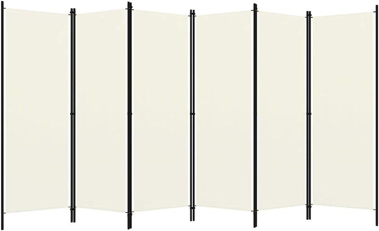 6 pezzi vidaXL 300 x 180 cm colore: Bianco Divisorio