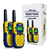 Walkie Talkies for Kids Boys Girls, Ouwen Long Range Walkie Talkies for Kids Popular Hottest Outdoor Toys for 3-12 Year Old Boys Girls Presents Gifts Stocking Fillers Yellow Blue Chrismas New Gift OWU