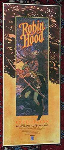 The Adventures Of Robin Hood (1938) Original Video Release Poster (8x18)
