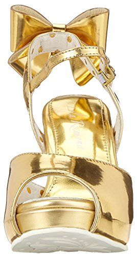 Lola Ramona Women's Angie Open Toe Heels Gold (Gold 80) reliable cheap price 2014 newest cheap price sale big sale cheap price discount authentic cheapest price sale online 0J7N6SCeeG
