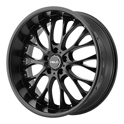 he890 satin black wheel with painted finish