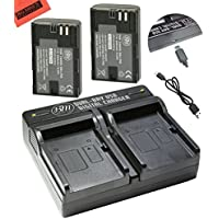 BM Premium 2-Pack of LP-E6N Batteries and Dual USB Battery Charger for Canon C700, XC15, EOS 60D, EOS 70D, EOS 80D, EOS 5D II, EOS 5D III, EOS 5D IV, EOS 6D, EOS 6D Mark II, EOS 7D,EOS 7D Mark II