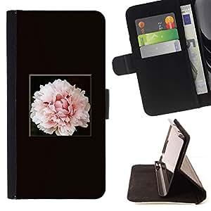 Momo Phone Case / Flip Funda de Cuero Case Cover - Flor de la flor rosa claro - Sony Xperia Style T3