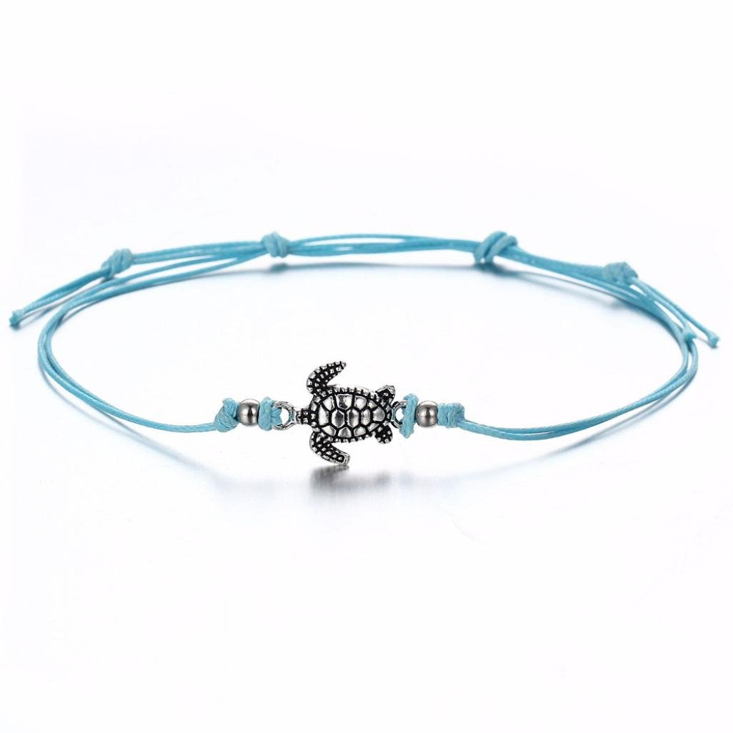 Hatoys Womens Vintage Bracelet Jewelry Turtle Beach Foot Chain Anklets