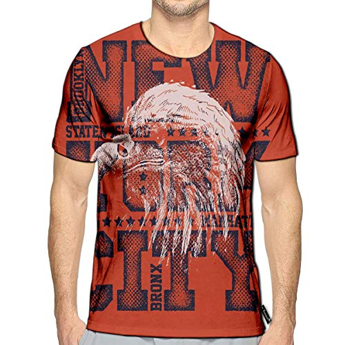 (T-Shirt 3D Printed New York City Eagle Casual)