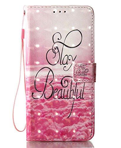 Wallet Galaxy S8 Plus Case, S8 Plus Case, JanCalm [Wrist Strap] [Kickstand] [3D Painted] [Card/Cash Slots] Premium PU Leather Wallet Magnetic Flip Folio Cover + Crystal Pen (Beautiful Pattern)
