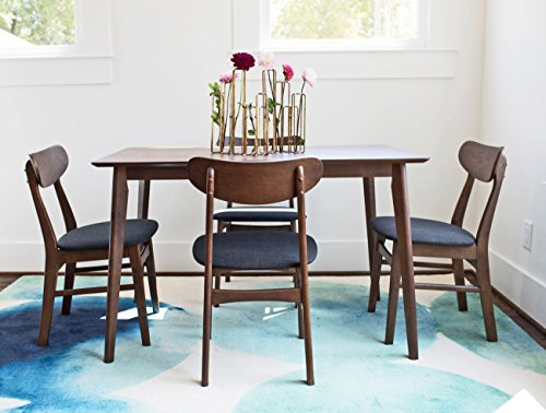 GRAMERCY Dining Table Set for 4 – Mid-Century Modern Dining Table and Chairs – Walnut