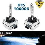 10000K D1S/D1C/D1R HID Bulb Deep Blue Xenon Lamps 35W Car Headlight Replacement 35W OEM 85415C1 85415 66141 66142 Plug & Play (Set of 2)