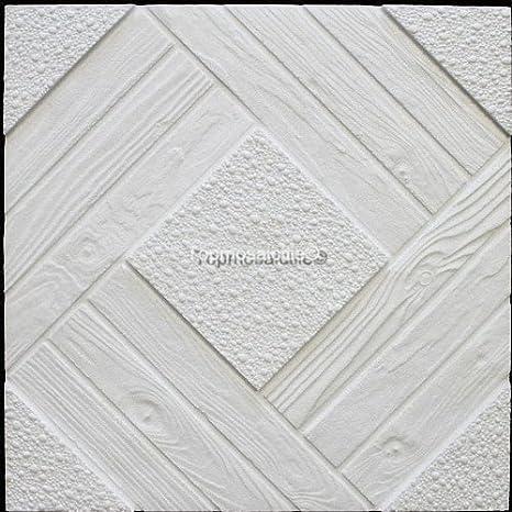 Paneles para techo en poliestireno expandido, 64 unidades / 16 m2, color blanco: Amazon.es: Hogar