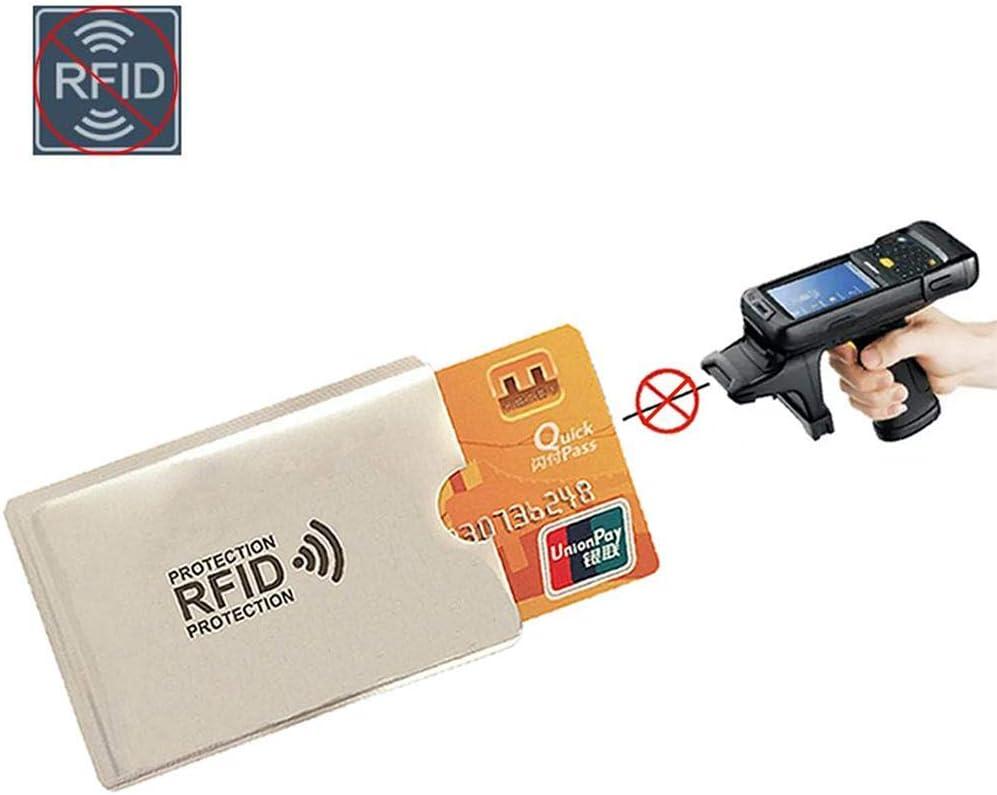 Calistouk Lot de 4 Pochettes Anti-RFID pour Lecteur de Cartes de cr/édit et Carte didentit/é en Aluminium et Plastique