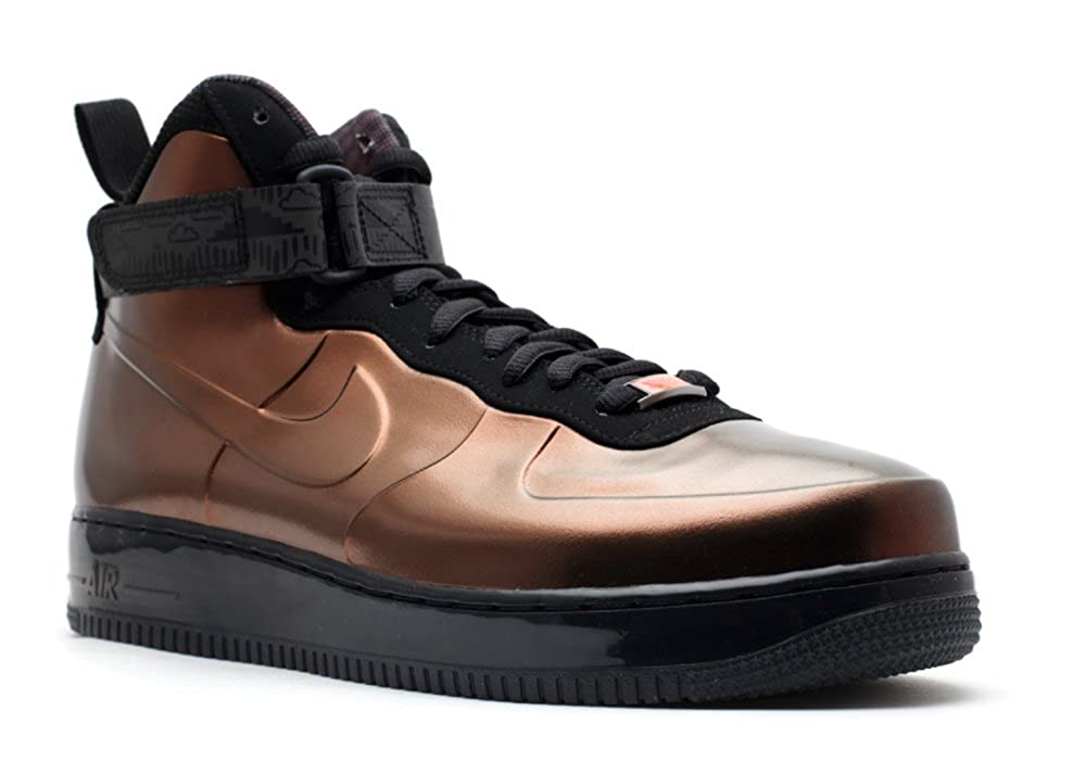 competitive price 60e2d d36b7 Amazon.com  Nike Air Force 1 Foamposite BHM QS - Metallic  CopperBlack-Total Orange (11)  Basketball