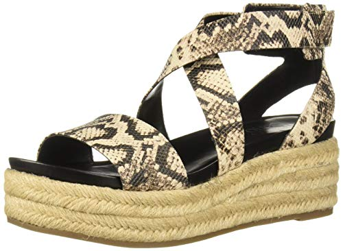 Franco Sarto Women's Tabatha Espadrille Wedge Sandal, Natural, 9 M US