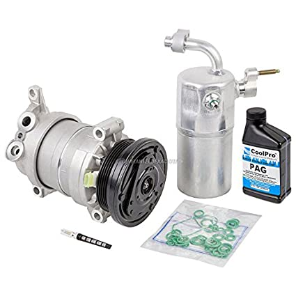 AC Compressor w/A/C Repair Kit For Chevy Silverado GMC Sierra 1500 V8 1999  2000 2001 2002 Replaces Delphi HU6 - BuyAutoParts 60-80142RK New