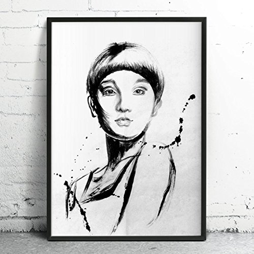 Large Original Ink Painting, Custom Portrait from Your Photo for people, Illustration and Drawing by Watermom