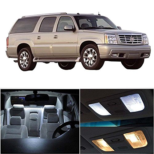 cciyu 16 Pack White LED Bulb For 2007-2015 Cadillac Escalade ESV LED Interior Lights Accessories Replacement Package Kit